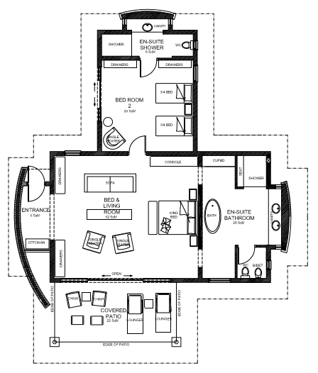 Floor plan - 2 bedrooms